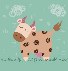Cute cow idea forprint t-shirt vector