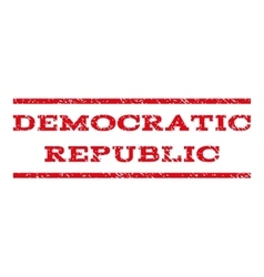 Democratic Republic Watermark Stamp vector image