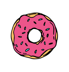 donut icon for cafes restaurants coffee shops vector image