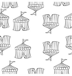 doodle of tent circus hand draw vector image