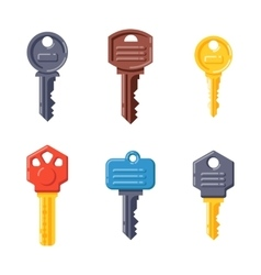 Door security key isolated icon vector image