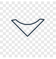 Down arrow concept linear icon isolated on vector