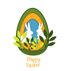 Easter egg card banner background cut out vector
