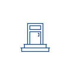 entrance door line icon concept entrance door vector image