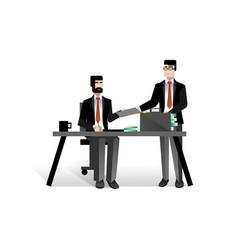 european businessmen conclude a contract vector image