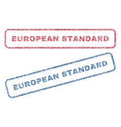 european standard textile stamps vector image