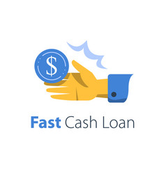 Fast cash loan credit approval easy wage open vector