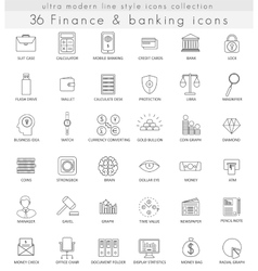Finance and banking ultra modern outline vector image