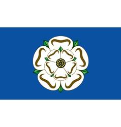 Flag yorksshire vector