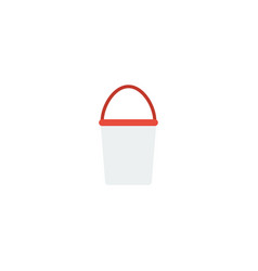 flat icon bucket element of vector image