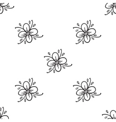 Flowers Doodles Seamless Pattern vector