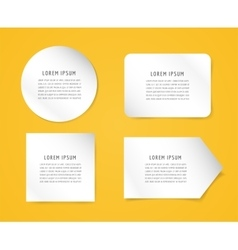 Form blank template Business card paper and vector
