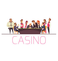 gaming casino people background vector image