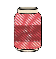 glass bottle isolated vector image