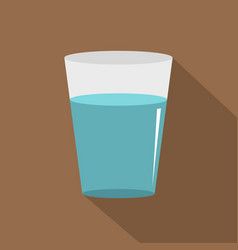 Glass water icon flat style vector