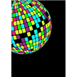 glowing disco ball vector image
