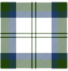 green blue and white tartan plaid seamless pattern vector image