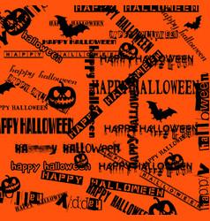 Halloween background with bats and pumpkin vector