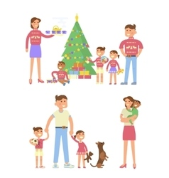 Happy family concept vector