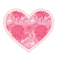 Heart lace pattern 4 380 vector