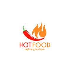 hot food logo vector image