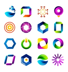 Icon design based on letter O vector image