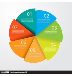 Infographics design with circles for business vector image