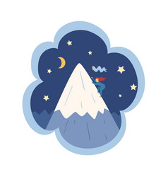 kid dreams sweet dream cloud with cute girl vector image