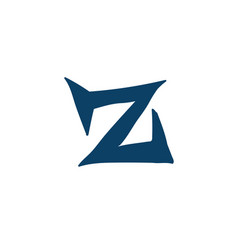 latin letter z logo for company icon for the vector image