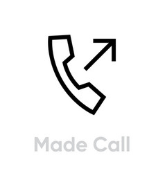 made call phone icon editable line vector image