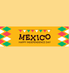 mexico independence day banner background vector image