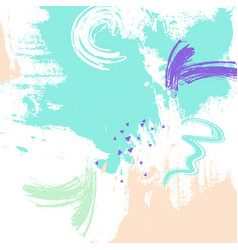 Mint color brush stroke vector