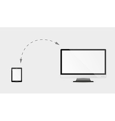 Monitor and tablet vector