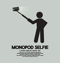 Monopod Selfie Self Portrait Tool For Smartphone vector image