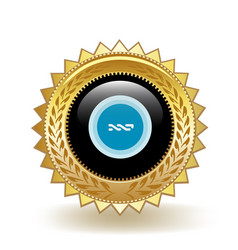 Nxt cryptocurrency coin gold badge vector