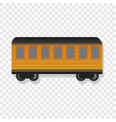 Old passenger wagon icon cartoon style vector