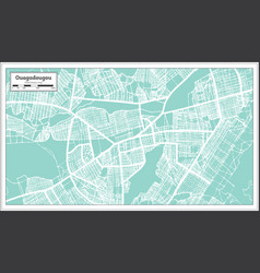 ouagadougou burkina faso city map in retro style vector image