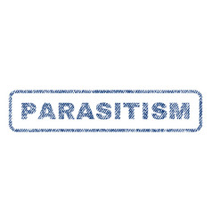 parasitism textile stamp vector image