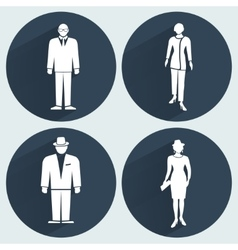 People icon set Office business meeting vector
