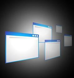 Perspective computer windows vector