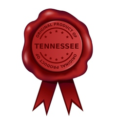 Product Of Tennessee Wax Seal vector image