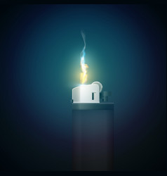 Realistic gas lighter template vector