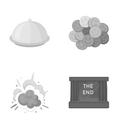 Rest ovation business and other monochrome icon vector