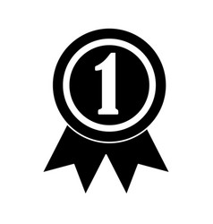 Ribbon award first place icon image vector