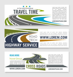 road travel and highway service banner template vector image