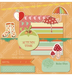 Scrapbook Design Elements - Autumn Time vector