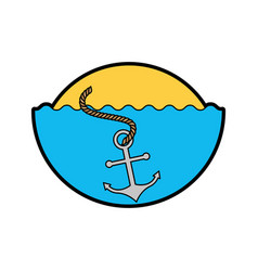 Sea anchor isolated icon vector