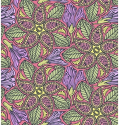 Seamless paisley and floral pattern vector