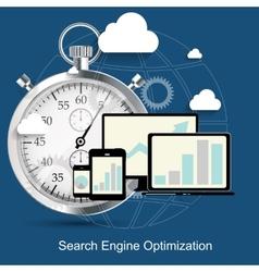 SEO - Search Engine Optimization Flat Icon vector