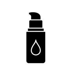 Silhouette bottle concealer or moisturizer vector
